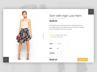 Product Quick View wordpress theme ecommerce shop clean elegant add to cart quick view lightbox