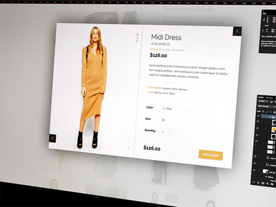 Product quick-view, last touches wordpress theme ecommerce shop clean elegant add to cart quick view lightbox