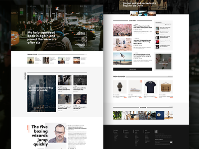 Mood Home - Time To Code typography magazine web design layout wordpress theme