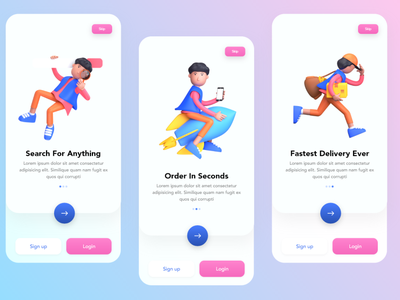 Onboarding Screens for E-Commerce App. onboarding app uidesign uxdesign uiux ui