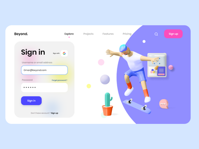 Sign in page 💫 landingpage landing xd uxdesign login screen login form form login page login ui design ui