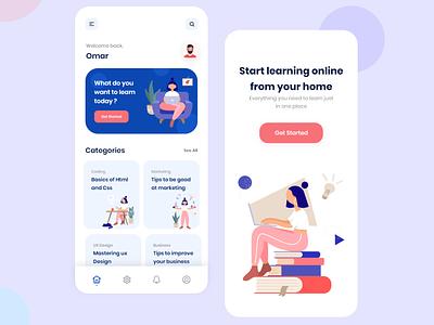 Online learning app 👨🎓 illustraion uxdesigns learning platform learning app platform mobile app uxdesign uiux uidesign ui