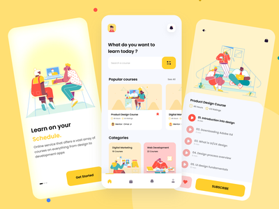 Online Learning App 📚 avatar teacher learning platform landing page colors case study learning online figma adobe uxdesigns illustrations illustrator uxdesign uidesign uiux ui