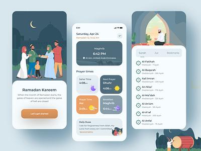 Ramadan Kareem 🌙✨ illustraion adobe illustrator sketch figma adobe ramadan quran muslim arabic font arab colors ui design uxdesign ux ui