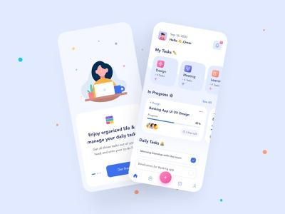 Tasky 📆 mobile app illustration branding 3d logo motion graphics graphic design animation design ux figma uiux adobe uidesign uxdesign ui