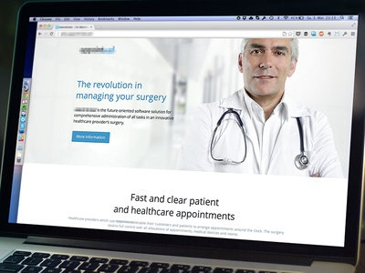 Marketing Page Intro healthcare marketing website clean flat blue