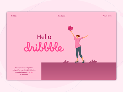 Hello Dribbble! basketball minimal design web thanksgiving vector typography visual design product design ui  ux designer adobe illustrator dribbble best shot illustraion welcome shot first shot dribbble hello dribbble debut shot debut