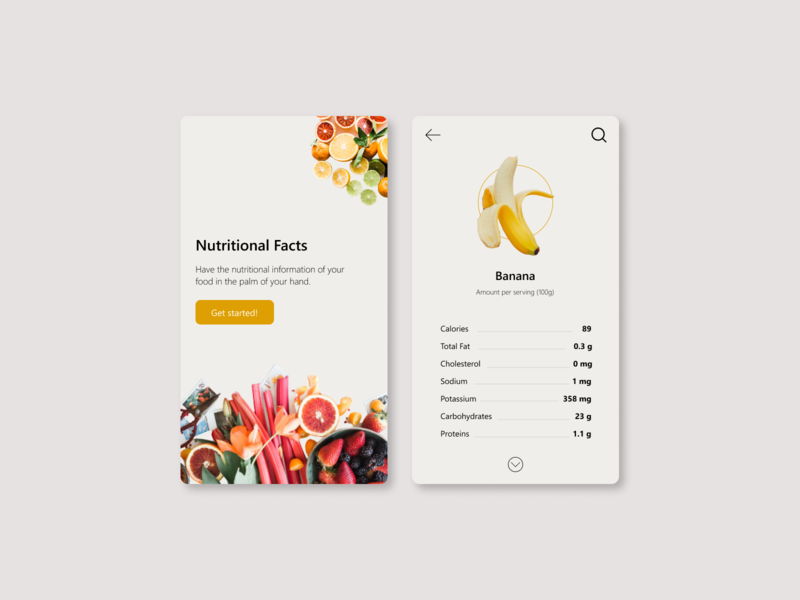 Nutritional Facts design clean ui app app design clean design uxui userinterface userexperience uidesign uxdesign