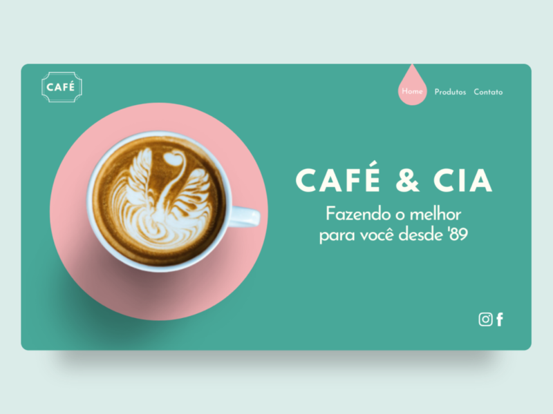 Café e cia web design ui website design web webdesign clean ui clean design uxui userexperience userinterface uxdesign uidesign