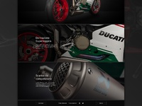 Close up of the Ducati Panigale Multisite