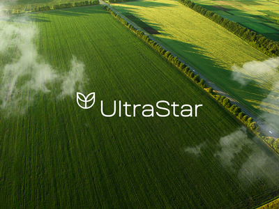 UltraStar — Project business logo agriculture design