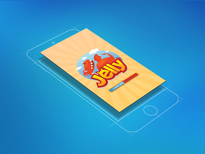 Logo and interface design for Jelly App (Hello Dribbble!)