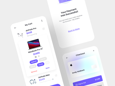Checkout and Cart Concept payment user interface uidesign cart shopping shop ui