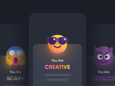 Emoji Pop-up Message emoji design 3d emoji pop up ui ui message onboarding new message message pop-up pop up ui 3d illustration illustration 3d