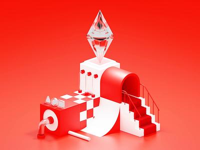 Ethereum NFT Loop glass cryptocurrency crypto cycle loop loopanimation nftanimation nft ethereum eth design blender 3d illustration illustration 3d animation