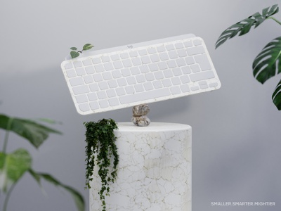 Marble Balance - Logitech MX Mini small keyboard logitech realistic texture uv marble mx mini keyboard blender 3d illustration illustration 3d