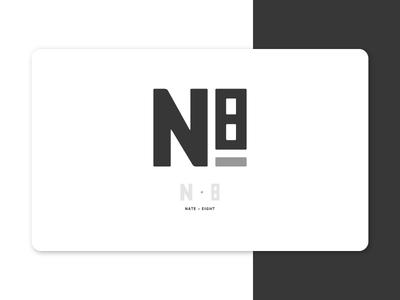 Personal Logo portfolio n8 nate black  gray logo mark branding personal logo logo
