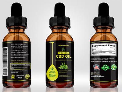 CBD Oil Label Design cannabis hempoil cbd packaging cbd products cbdlife cbd oil cbd design cbd label cbd label design cbd