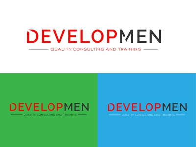 Developmen Logo vector branding design unique illustrator robin237 minimalist logo minimal luxury logo logo branding design