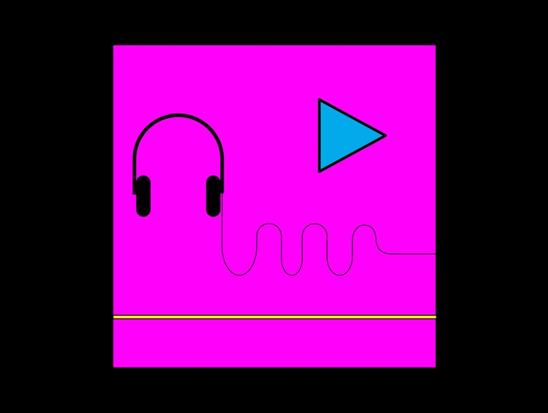 Music - Guilty Pleasure logo invitation free california institute color retro love black bose icon headphone ilustrator design colour pink pleasure ui ux music calarts