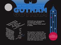 Gotham Typography - New York City's Typeface black ui graphic design calarts coursera typography poster typography typeface vector illustrator gotham