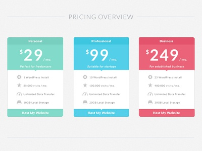 Freebie: Flat Pricing Table