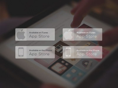 Freebie: Transparent App Store Button flat transparent app app store button glass iphone ipad mac itunes