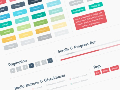 Flato Lite: Flat UI Kit freebie psd template kit ui kit flat user interface web design web ux psddd