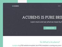 Website Template: Acubens