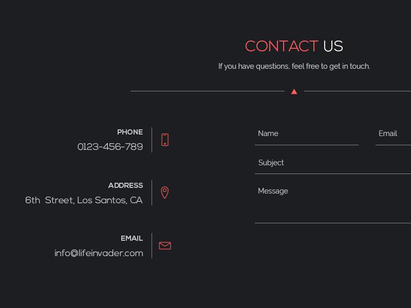 Freebie // UI Element: Minimal Contact Form contact form contact psd element ui free freebie