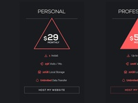 Freebie // UI Element: Minimal Pricing Table