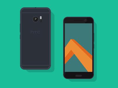 Freebie // Mockup: Flat HTC 10 free freebie download psd web mockup android graphic design flat htc10 htc