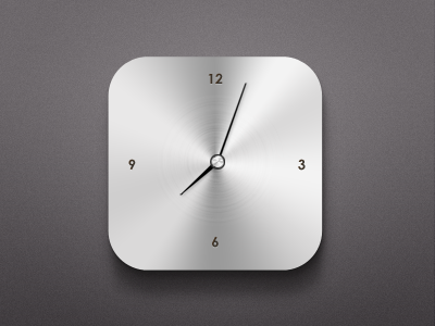 Modern Clock Widget free freebie psd clock widget modern minimal