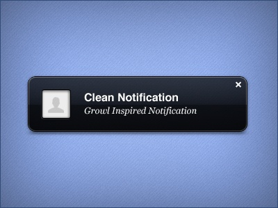 Clean Notification (PSD)