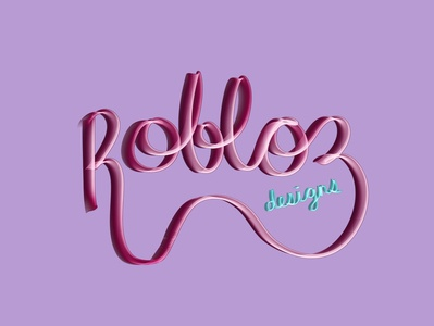 Robloz designs neon sign illustrator branding logo illustration design