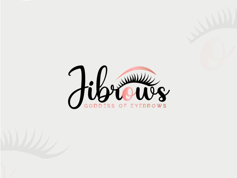 jibrows logo mark logo challange epic logo creative logo eye logo eyebrow logo tahsin nihan illustration logo inspiration branding inspiration logo designer logo logo ideas unique logo logo design