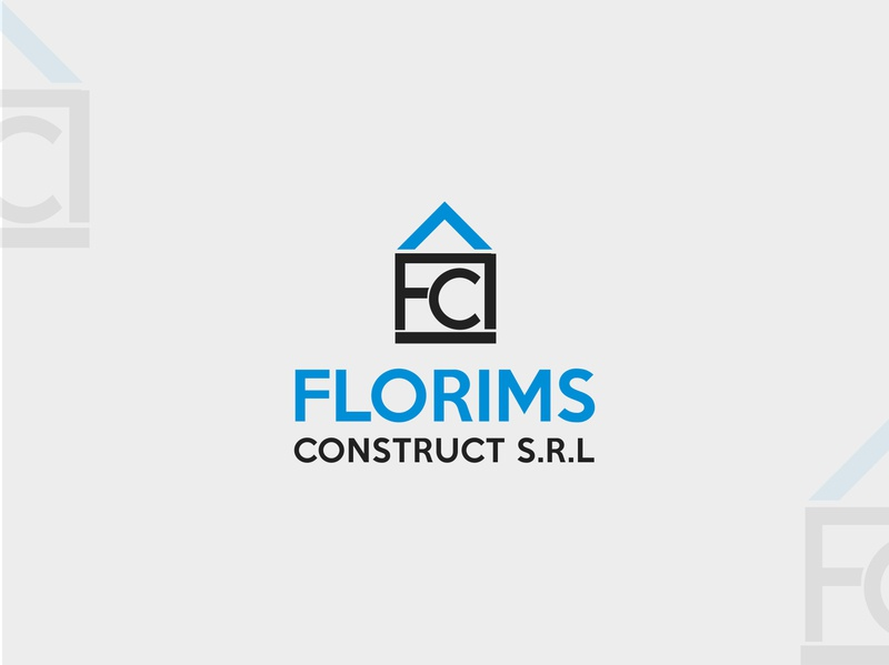 Florims Construct S.R.L construction logo real estate logo logos tahsin nihan illustration logo inspiration branding inspiration logo designer logo logo ideas unique logo logo design