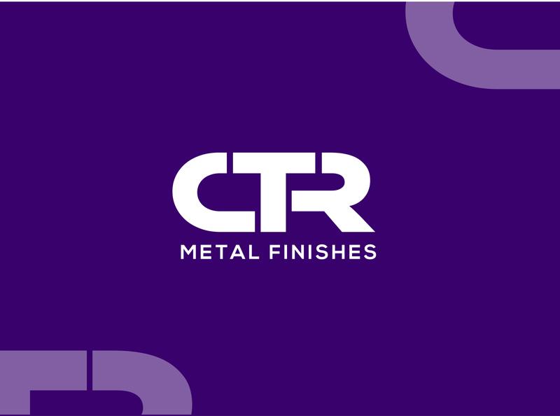 CTR Metal Finishes dailylogochallange dailyuichallenge tahsin nihan illustration logo inspiration branding logo inspiration logo designer unique logo logo ideas logo design