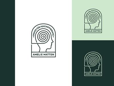 Praxis für Psychotherapie | Amelie Matten logo branding graphic design inspiration logo designer unique logo logo ideas logo design