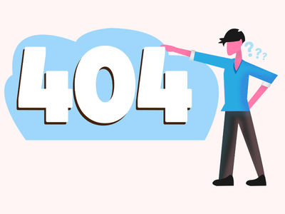 404 Concept Illustration adobe illustrator illustrations concept colorful color vector illustration artwork art 404 error 404 error page 404