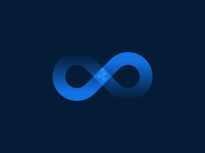 Connections Icon icon connection connections branding infinity symbol infinity payments illustration brand blockchain ripple