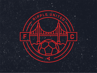 Ripple Soccer Crest (San Francisco Team) golden gate bridge san francisco logo crest football soccer cryptocurrency crypto ripple xrp