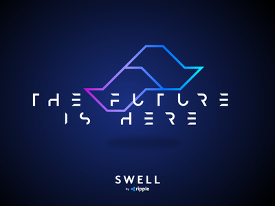 Swell 2017 event design event branding future logo ripple swell