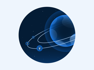 RippleNet Empty State Illustration 1 orbit planet universe icon brand illustration blockchain ripplenet empty state