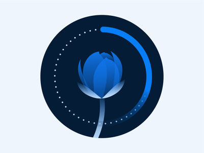RippleNet Empty State Illustration 3 illustration empty state icon ripplenet ripple brand flower blockchain