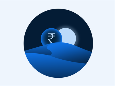 RippleNet Empty State Illustration 5 indian rupee rupee money solar eclipse eclipse sun solar moon sahara sand ripplenet illustration icon empty state brand blockchain ripple