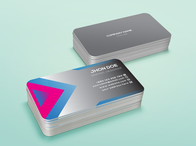 Business card design 6 illustrator