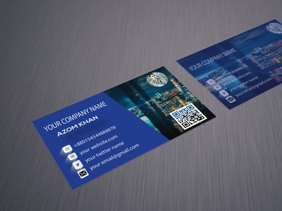 Business card  3 illustrator