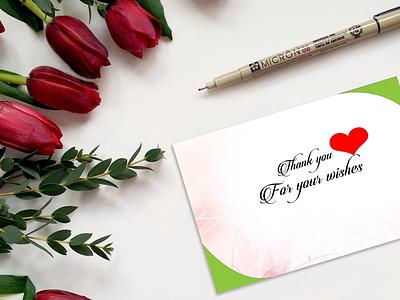 thankyou card design illustrator