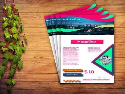 Flyer design 3 photoshop illustrator
